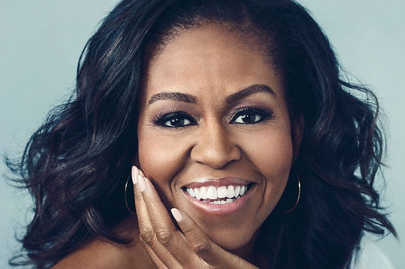 Michelle Obama celbrity with microbladed brows