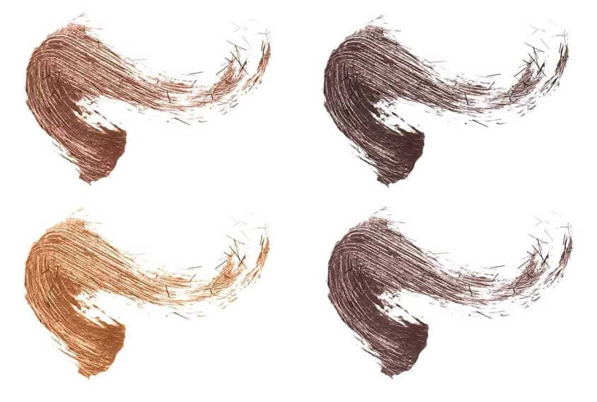 fiber brow gel shades