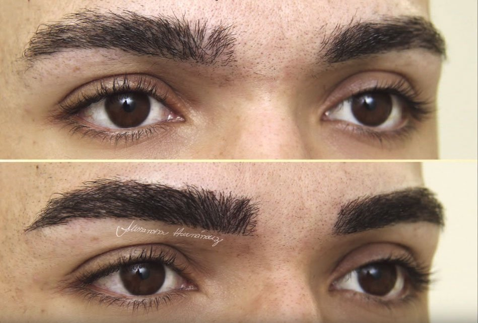 microblading procedure for men