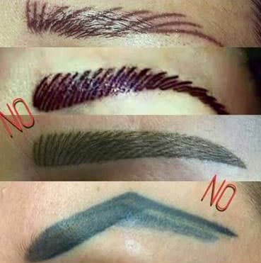 bad microblading procedure
