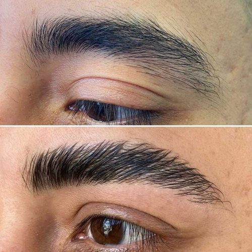 Men`s eyebrows waxing