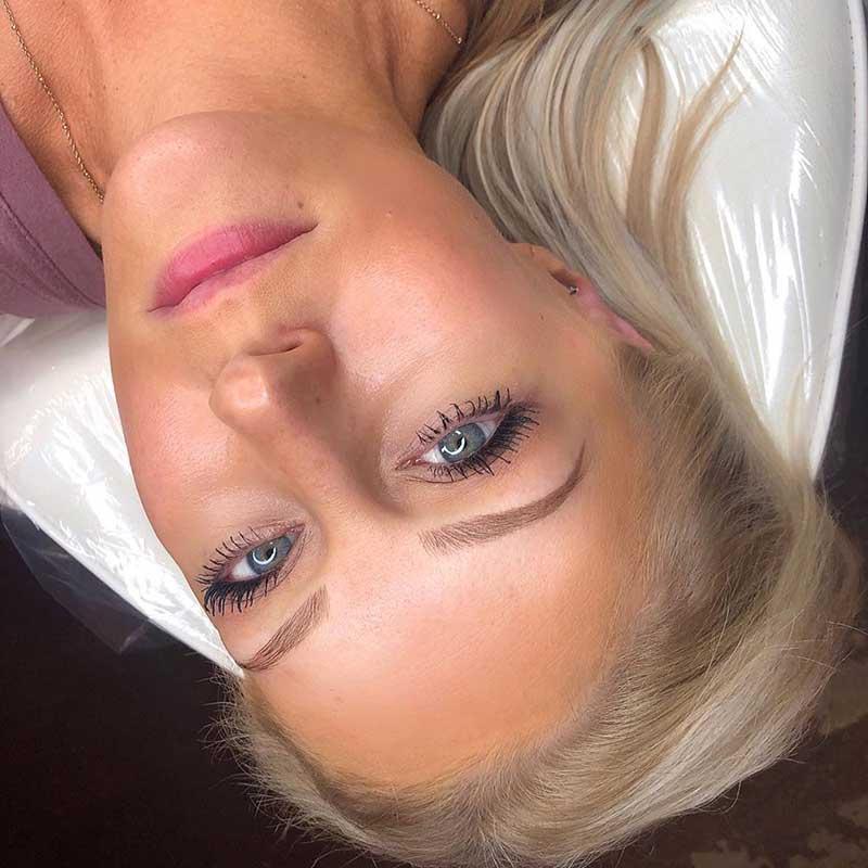 microblading blonde eyebrows