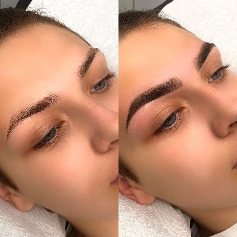 What is brow tinting
