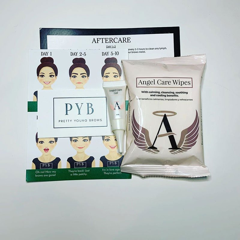 Permanent makeup aftercare instruction card guide