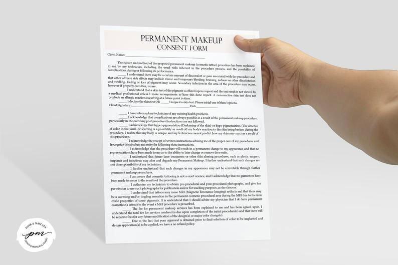 Client pmu consent form
