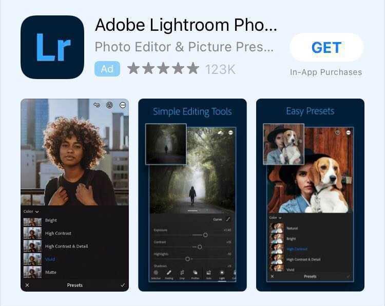 App for editing photos