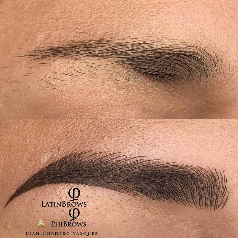 before and after images of permanent makeup