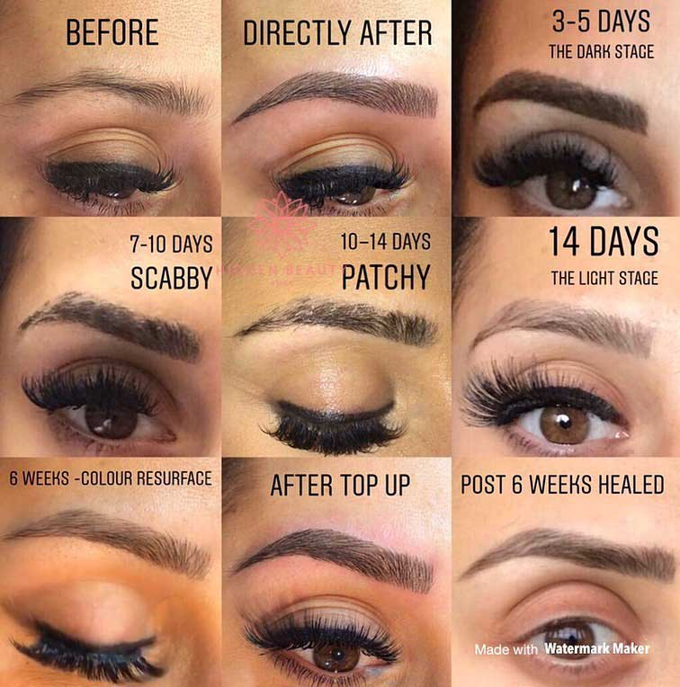 Microblading healing process: How Long Does it Take for Your Microbladed Brows to Heal?
