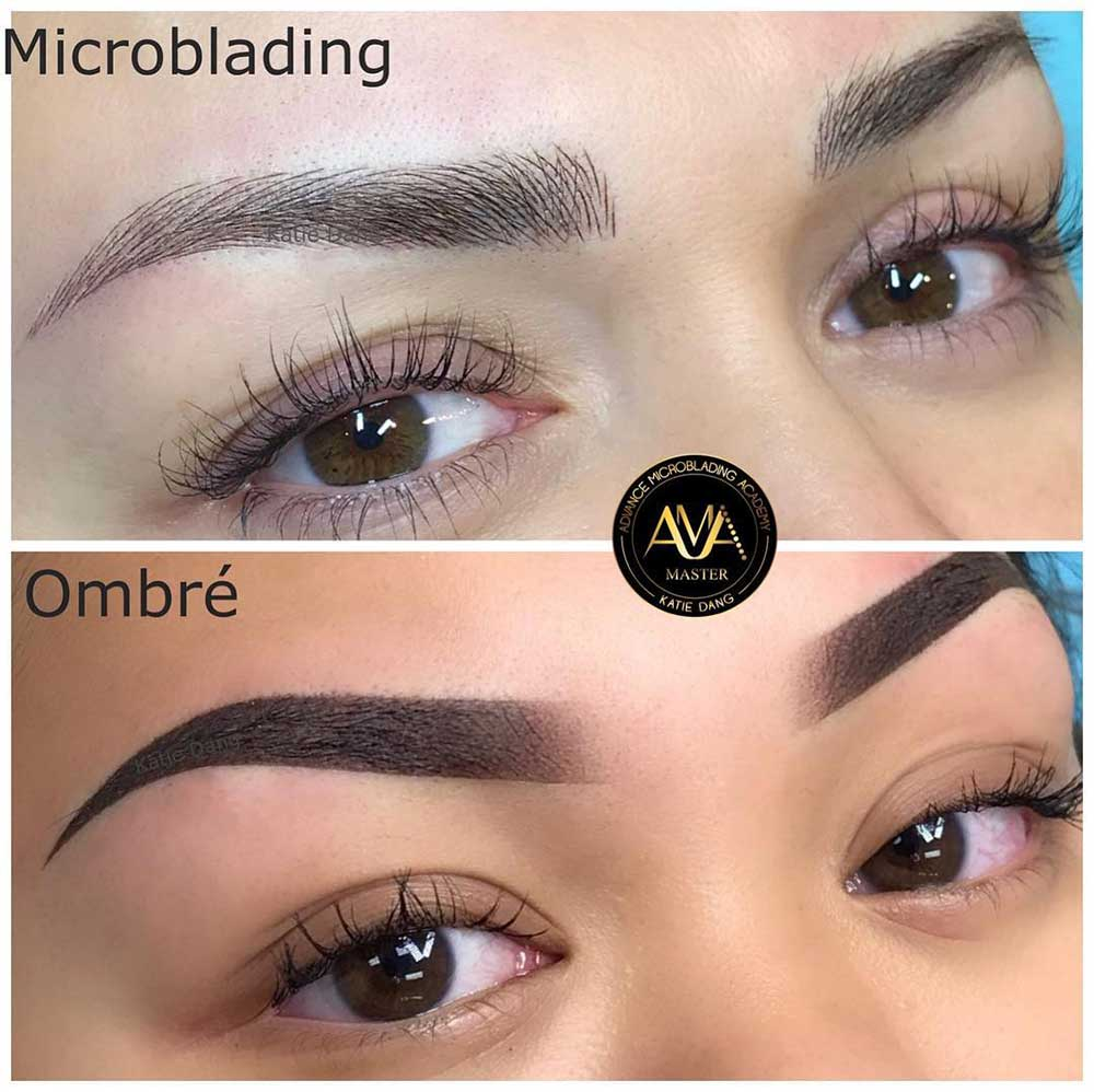 Ombre Brows vs Microblading – What is the Difference?