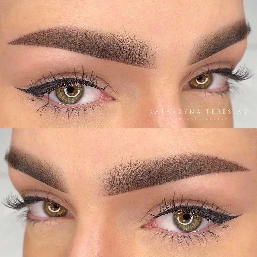 Powder Brows Before and After Pictures