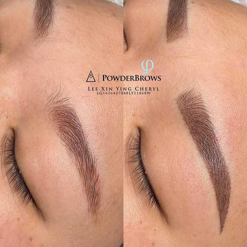 Powder brows procedure correction