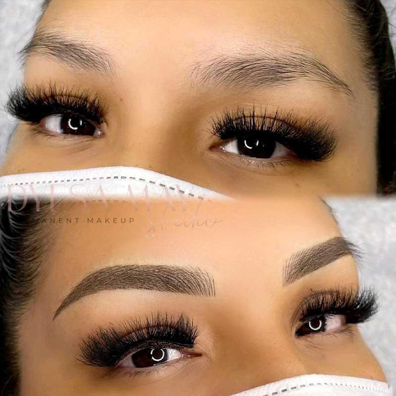 Cosmetic Eyebrow Tattoo - Microshading, Como Brows