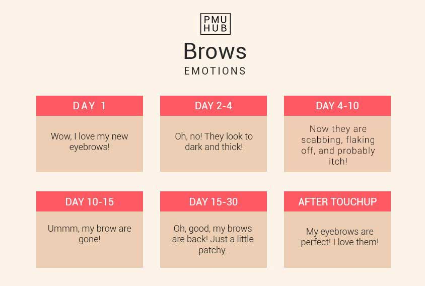 Microblading Healing Process Day by Day Process and Emotions