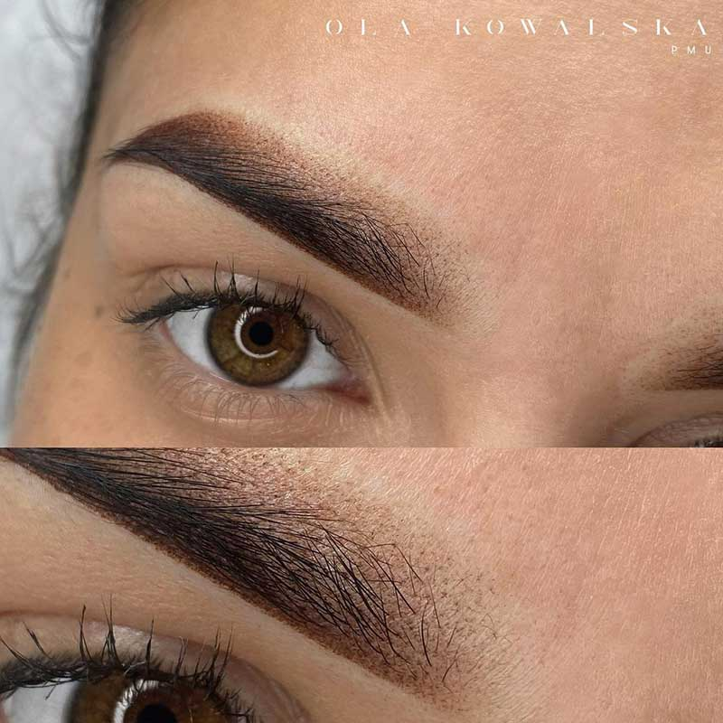 Cosmetic Eyebrow Tattoo - Powder Ombre Brows