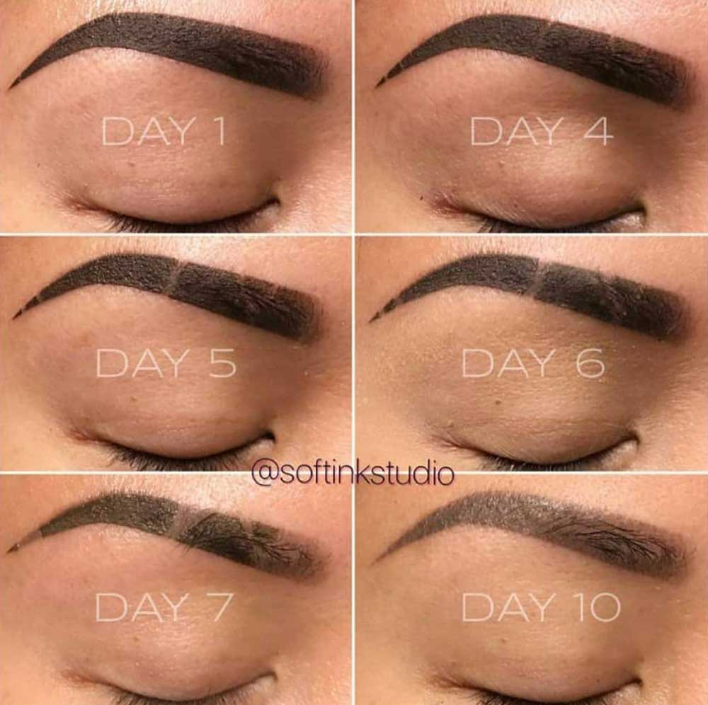 Powder Brows Aftercare Days 1-14