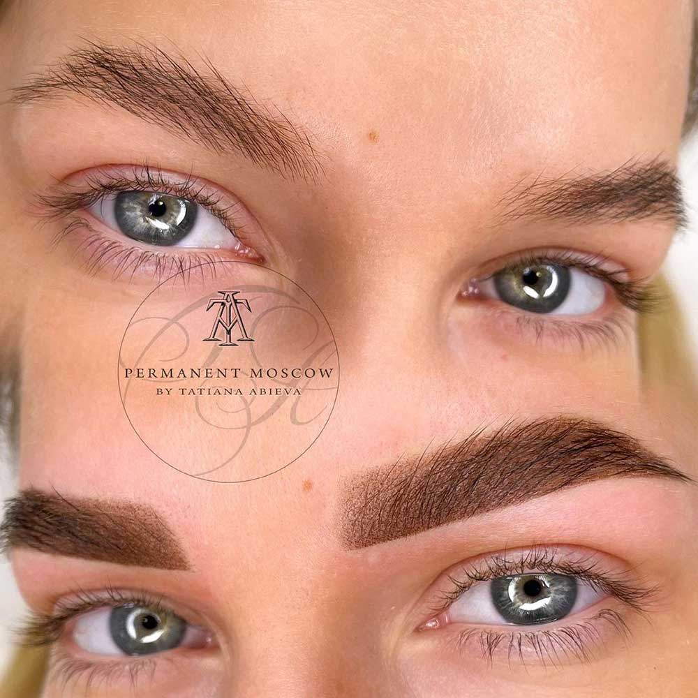 Permanent Makeup for eyebrows - Powder Brows