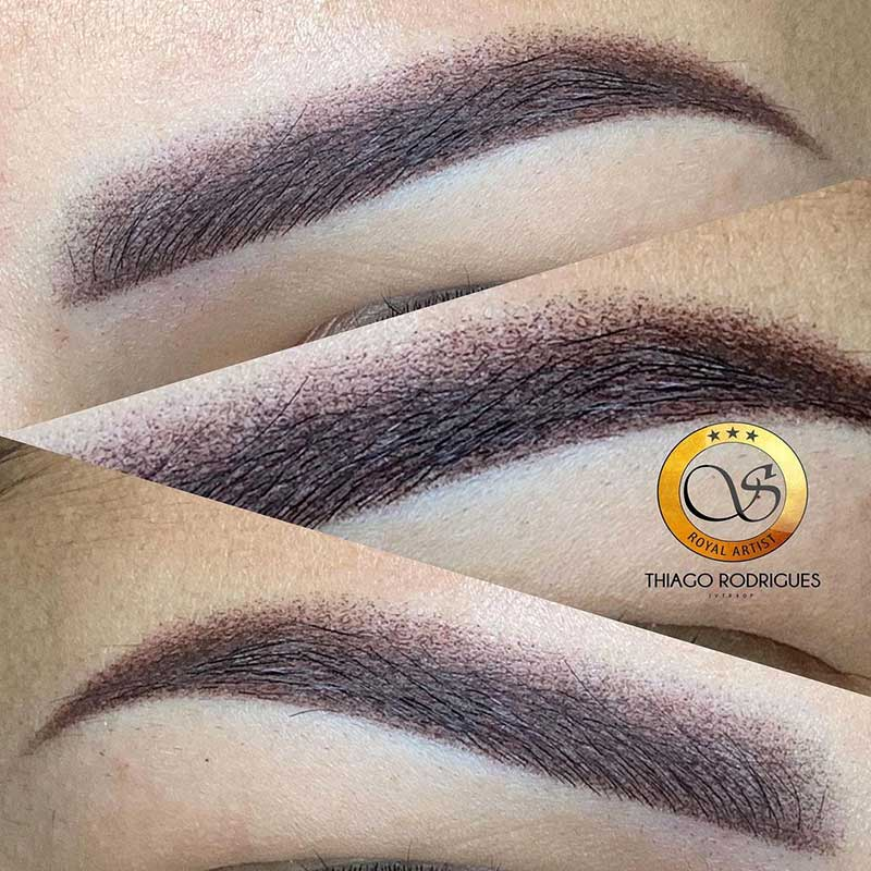 The shadow effect eyebrows - powder brows