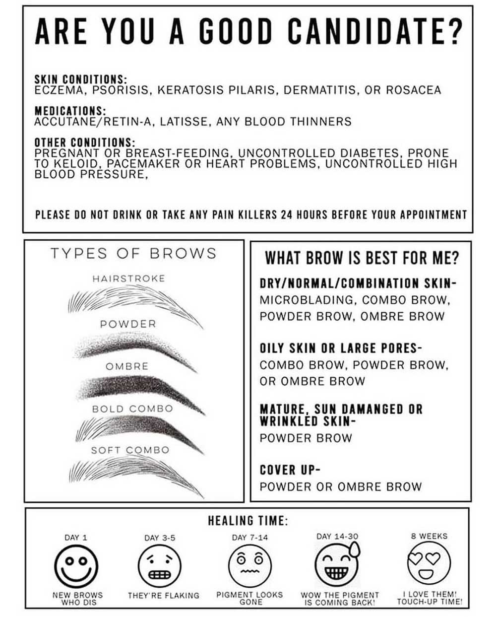 Are you a good candidate for microblading or powder brows