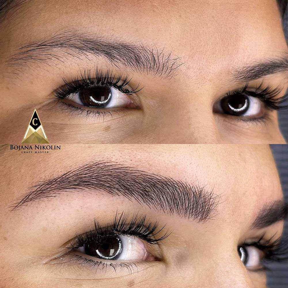 Microblading eyebrows is semi-permanent makeup treatment that