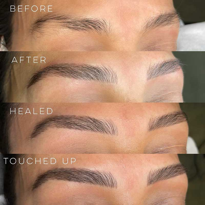 What is microblading touch up?