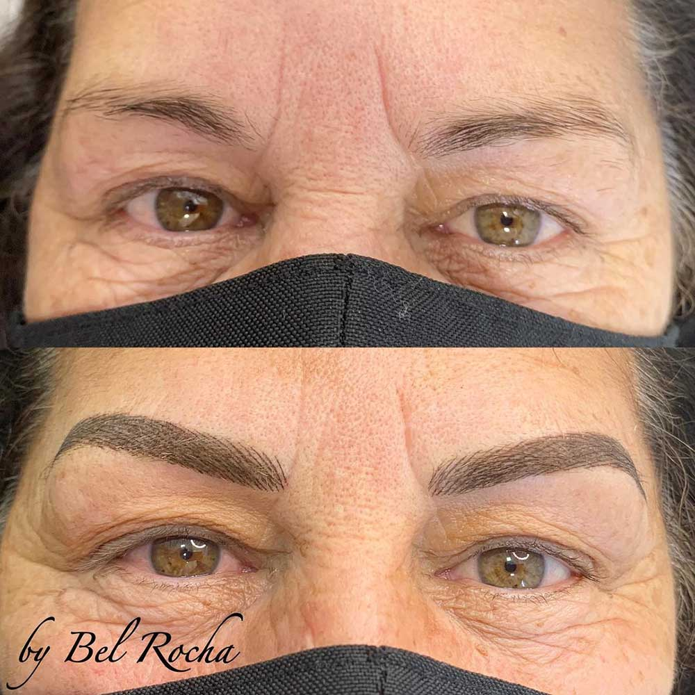 Combo brows for old skin