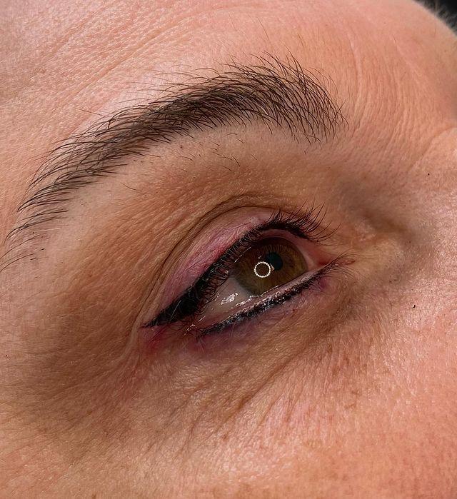 Lower Lid Eyeliner Tattoo for Older Ladies
