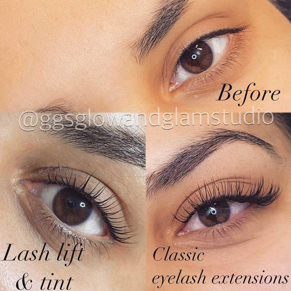 Main differences between lash lift vs lash extensions