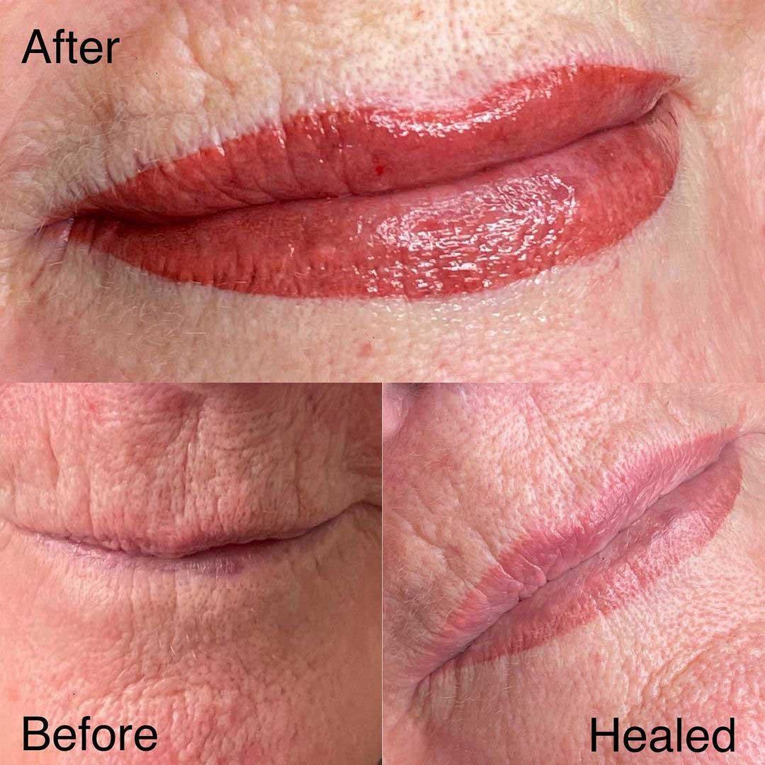 Lip blush for old skin