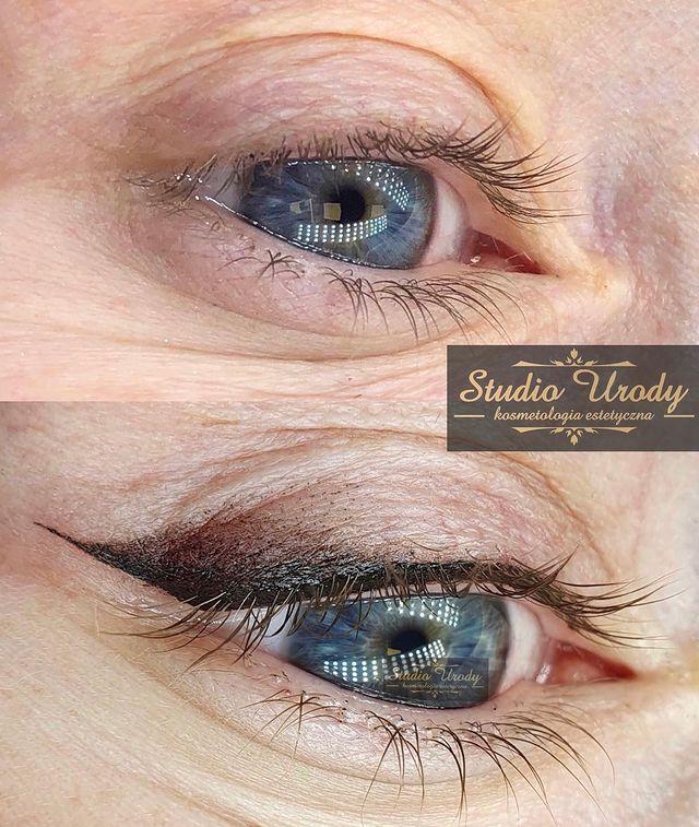 Shaded Eyeliner - The Best Style of Eyeliner Tattoo for Older Ladies