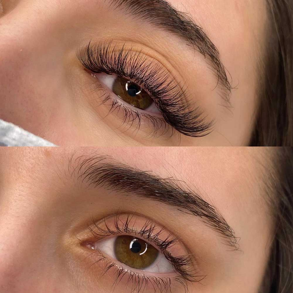 Lash extensions are semi-permanent fibers that are glued onto your natural lashes