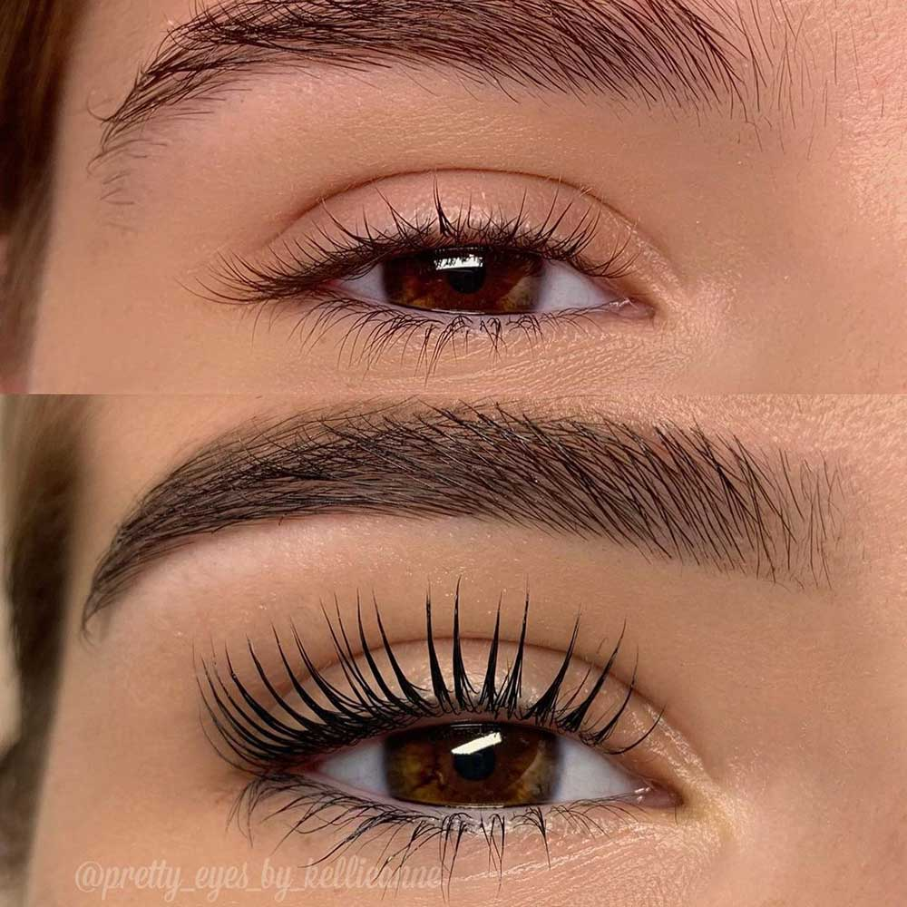 A lash lift is a semi-permanent chemical treatment for your lashes