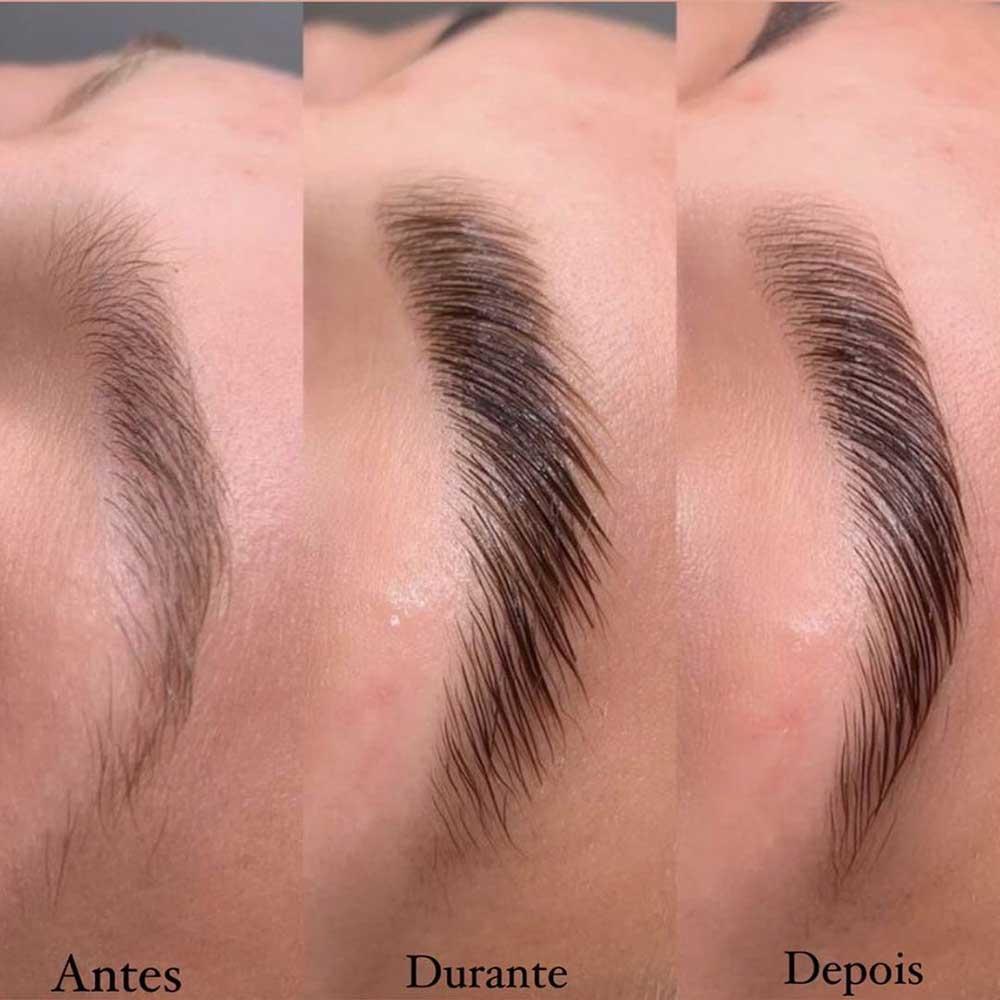 Eyebrow lamination non-invasive brow treatment