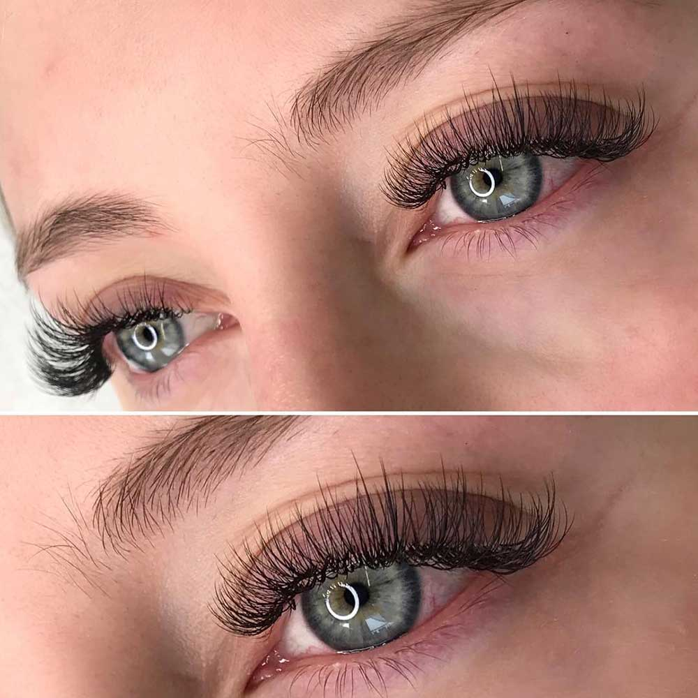 The most popular lash services are eyelash extensions and the lash lift