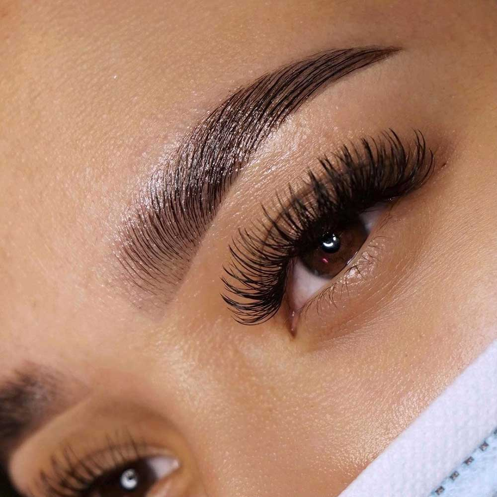 Henna brows is a brow treatment that involves coloring the brow hairs and the skin underneath with henna