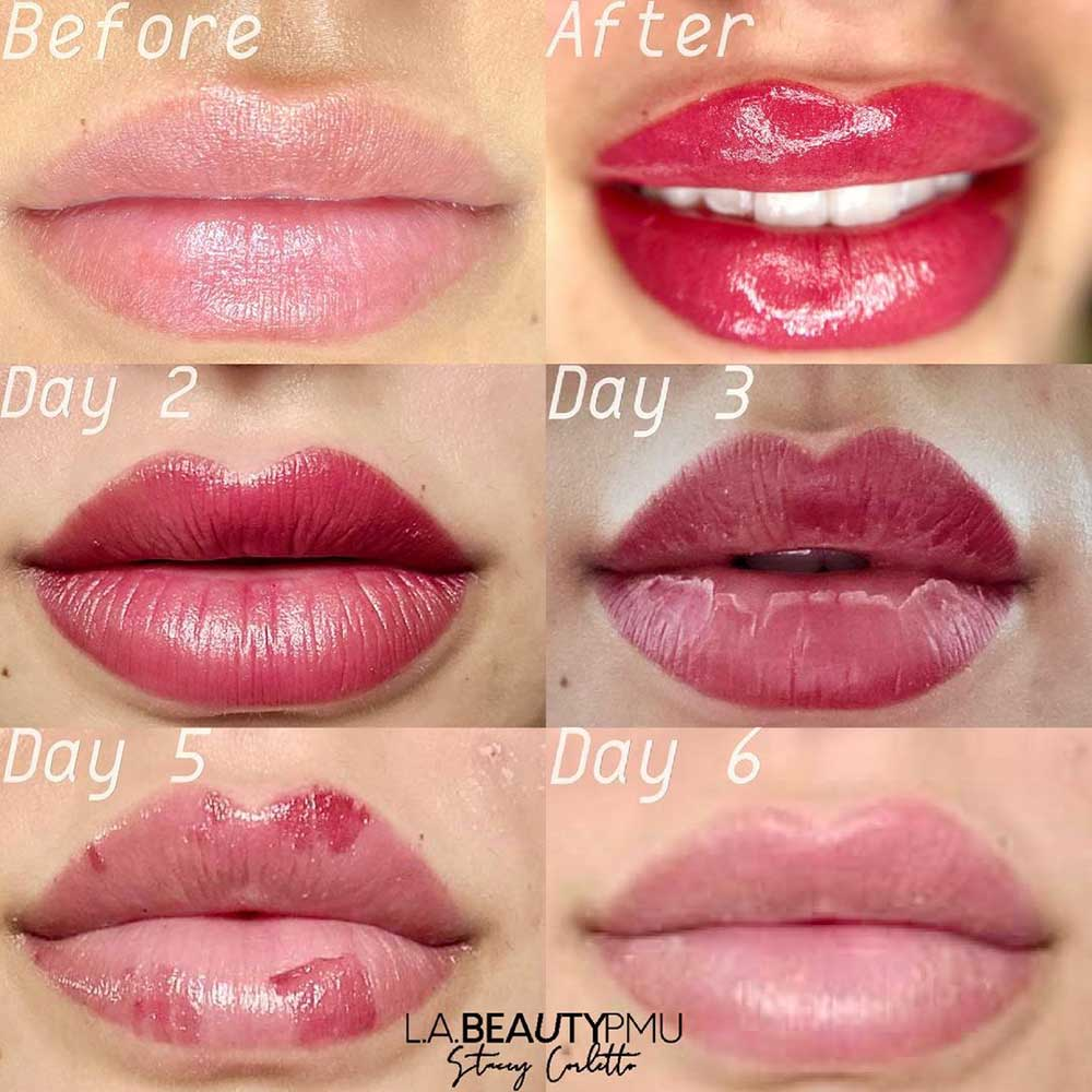 What's the Lip Tattoo Aftercare Routine Like?