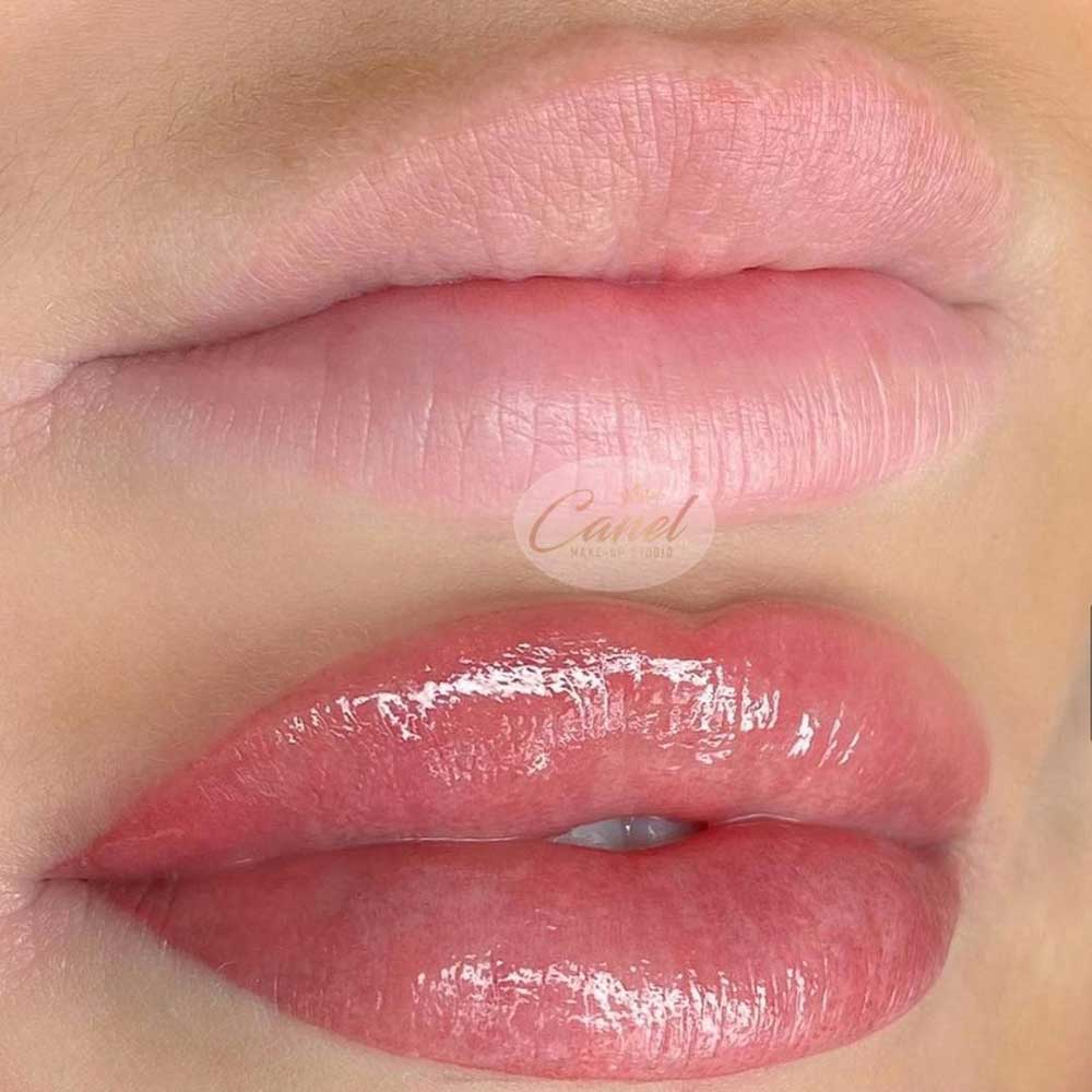 The lip blush healing requires aftercare routine