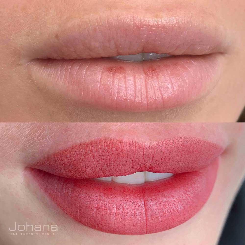 Lip blush is the most popular lip tattoo style
