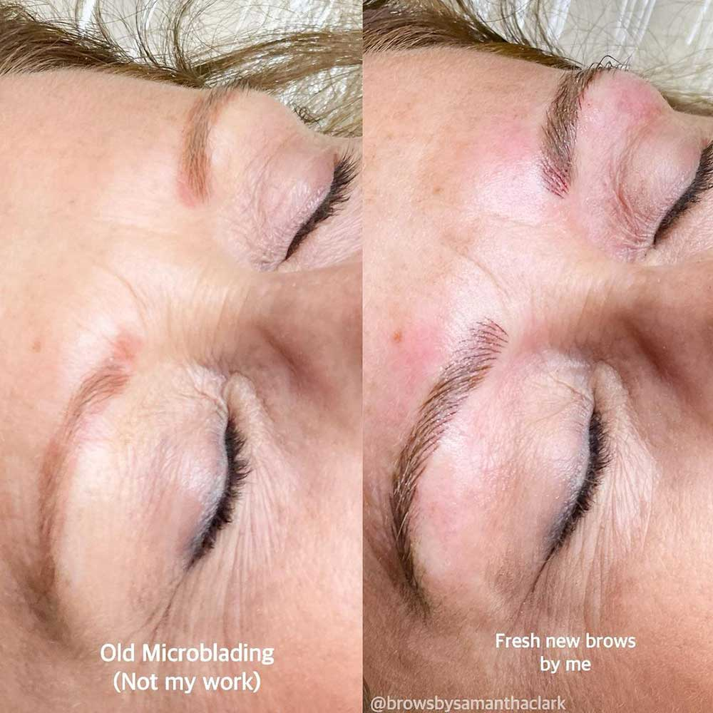 A Cover Up Touch Up Microblading
