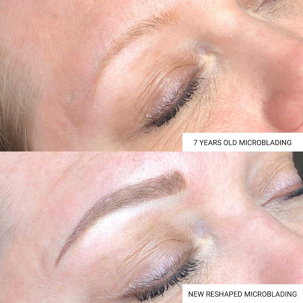 Microblading has faded after 7 years