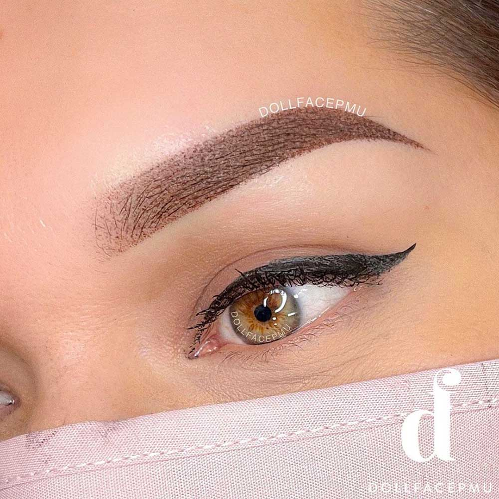 Ombre Powder Brows Tattoo for Eyebrows