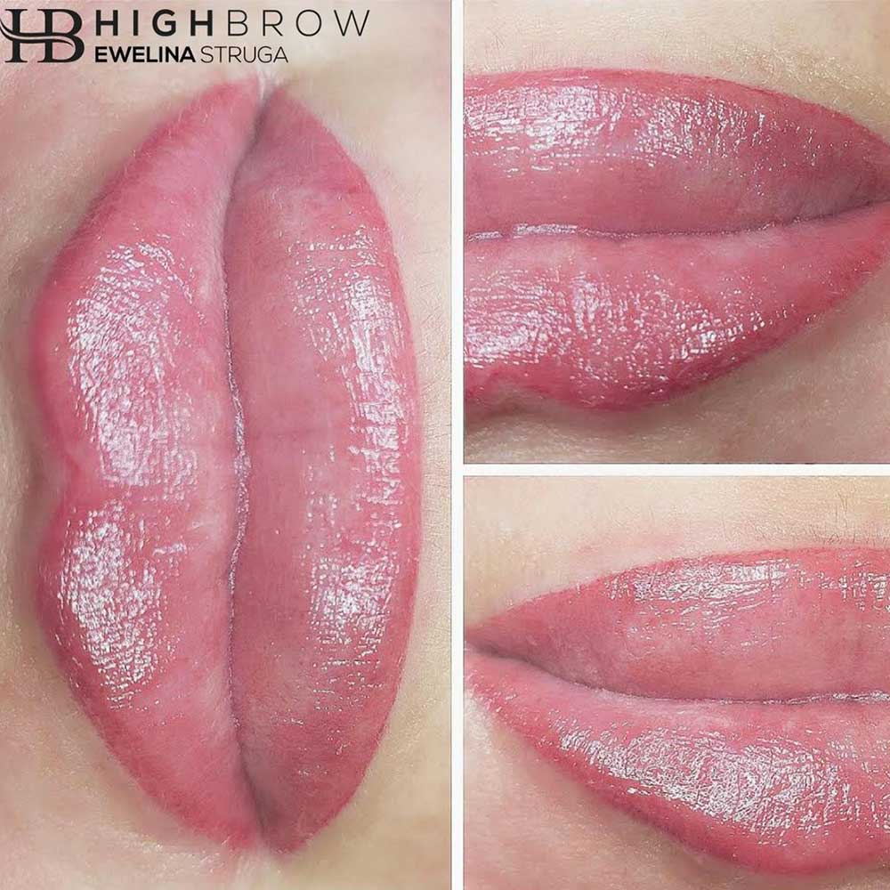 The shaded version of permanent lip liner adds a blended shade from the outline to about ⅔ of the lips