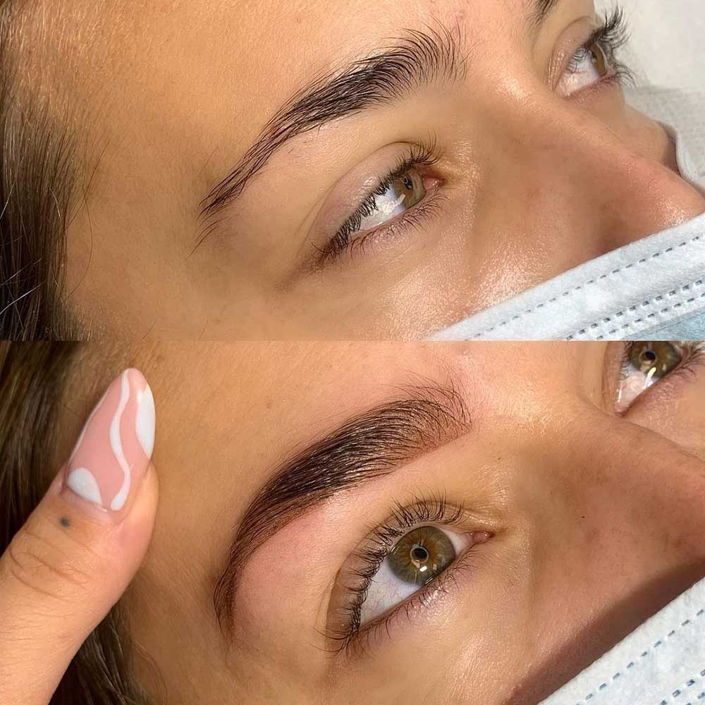 Microshading is a form of a cosmetic eyebrow tattoo that gives your brows a soft shadowy effect.