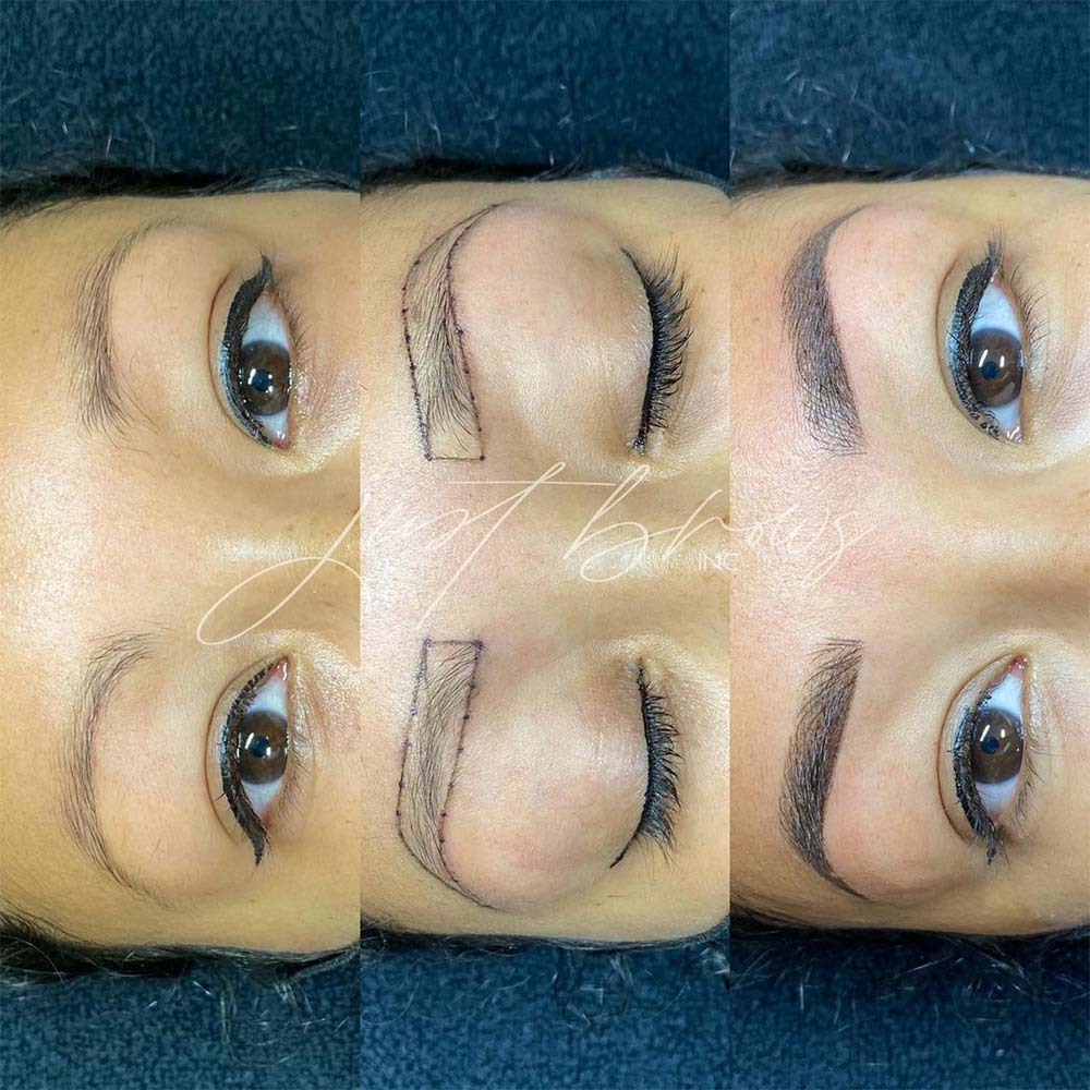 How Are Combre Eyebrows Done?